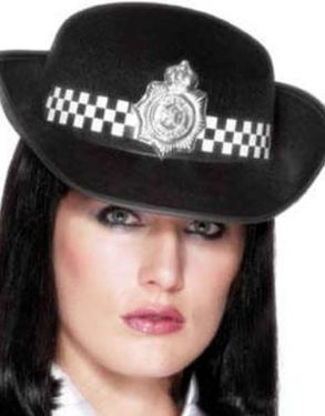 Ladies Fancy Dress WPC Police Hat